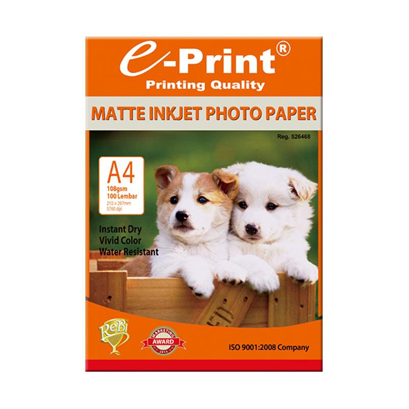 E-Print Inkjet Paper Photo Paper A4 [108 gsm/ 100 Sheet]