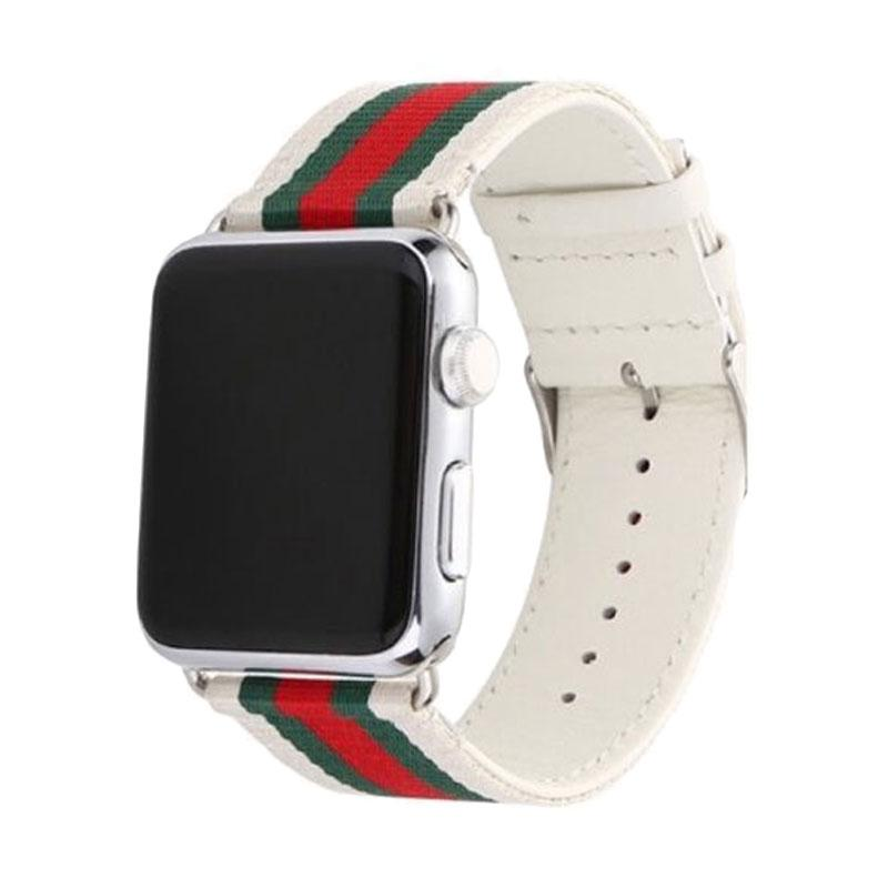 OEM Fabric Gucci Strap for Apple Watch 42 mm - White