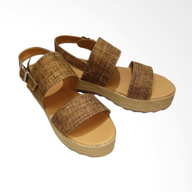 Anneliese Daphnie 2 Sepatu Wedges Wanita - Brown