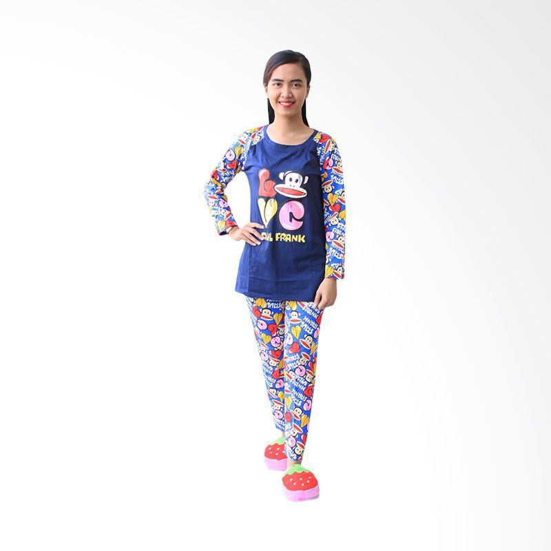 Aily 6206 Setelan Baju Tidur Wanita - Navy