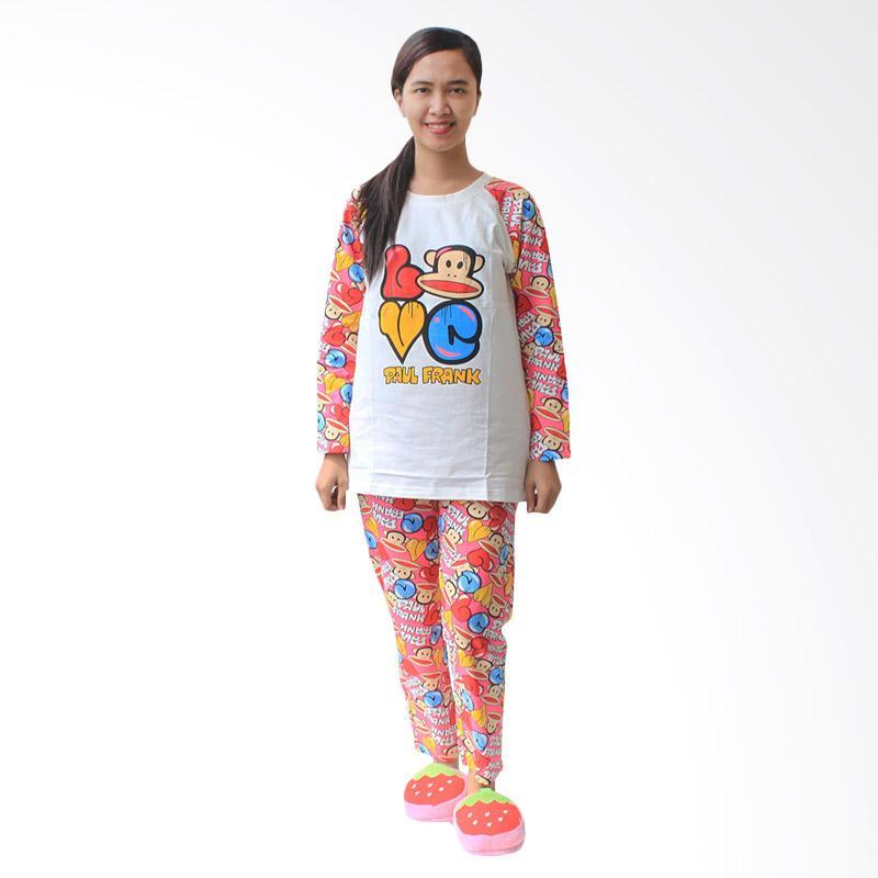 Aily 6206 Setelan Baju Tidur Wanita - Putih