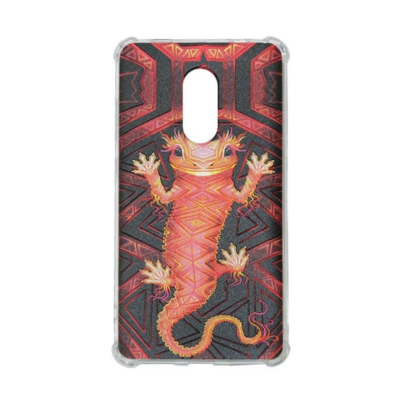 harga QCF Softcase Rimba Motif Tokek Oscar Anti Shock Anti Crack Silicone for Xiaomi Redmi Note 4X Case Jungle / Casing Gambar Blibli.com