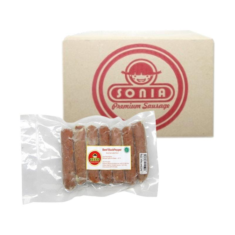 SONIA Sosis Beef Blackpepper Cocktail 21/34 [1 BOX]
