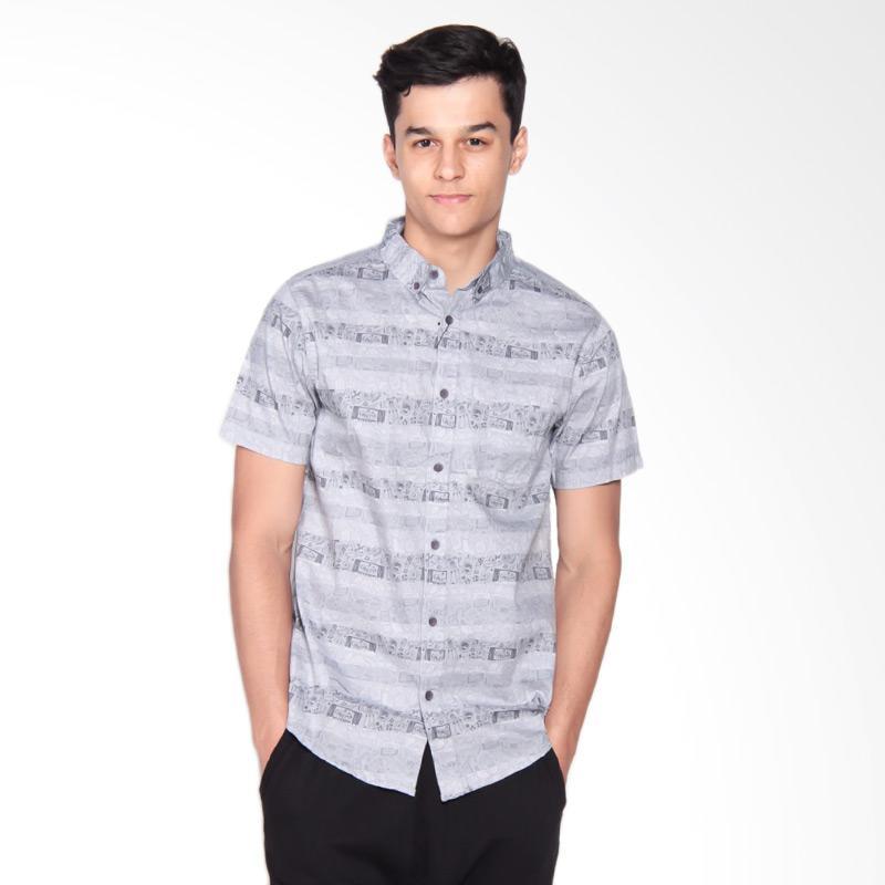 3SECOND 0209 Shirt Pria - Grey 102091711