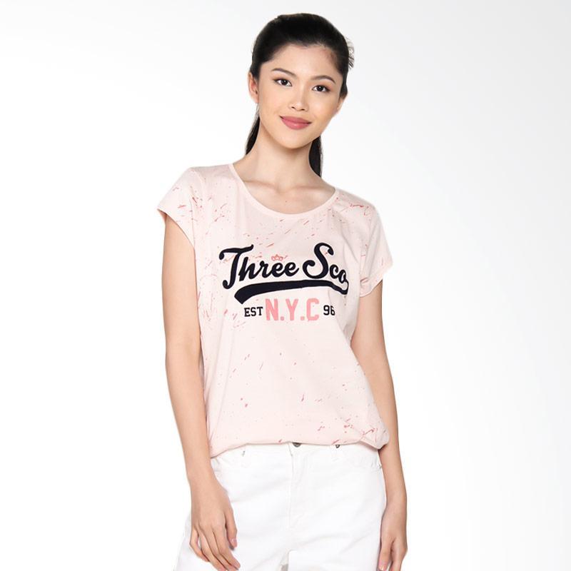 3 Second Ladies Tshirt 0809 108091722 - Pink