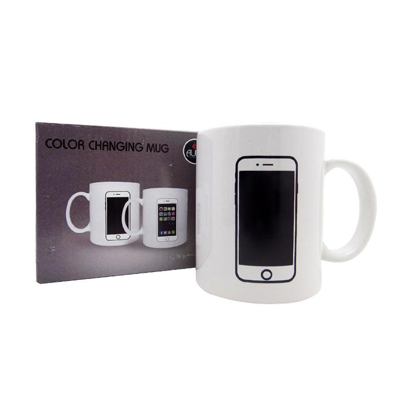 harga Agua Bunglon Motif iPhone Gelas Magic Mug Blibli.com