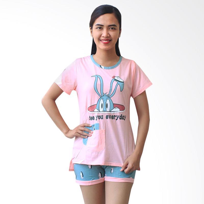 Aily 984 Setelan Baju Tidur Wanita - Pink