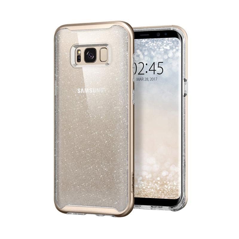 Spigen Neo Hybrid Crystal Casing for Samsung Galaxy S8 2017 - Glitter Gold Quartz