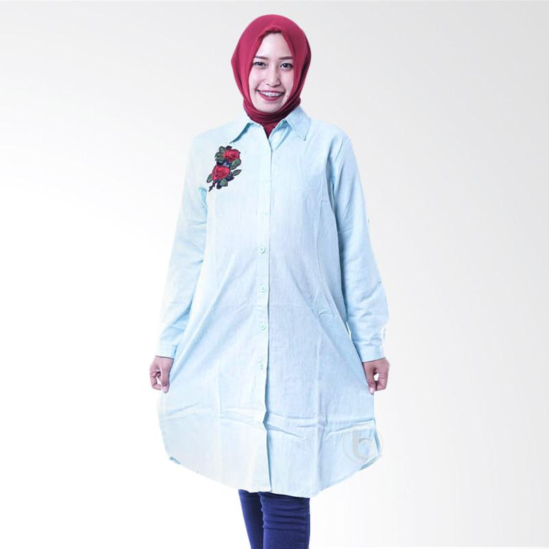 harga Mama Hamil Tunik Hamil Full Kancing Rose Belle Amina BLJ 399 Baju Hamil Menyusui - Hijau Blibli.com