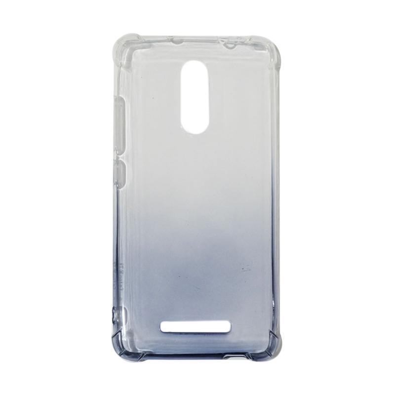 QCF BUY 1 GET 1 Softcase Anti Shock Anti Crack Warna Gradasi Silicone Casing for Xiaomi Redmi Note 3 Ultrathin / Case Unik - Hitam (Free Warna Random)