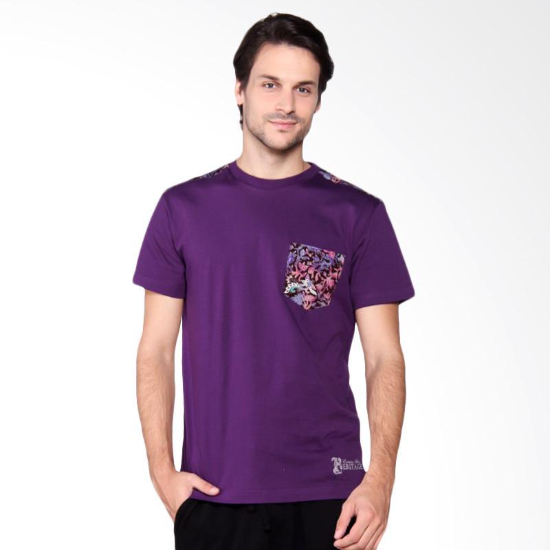Batik Heritage T-Shirt Pria - Full Color Purple