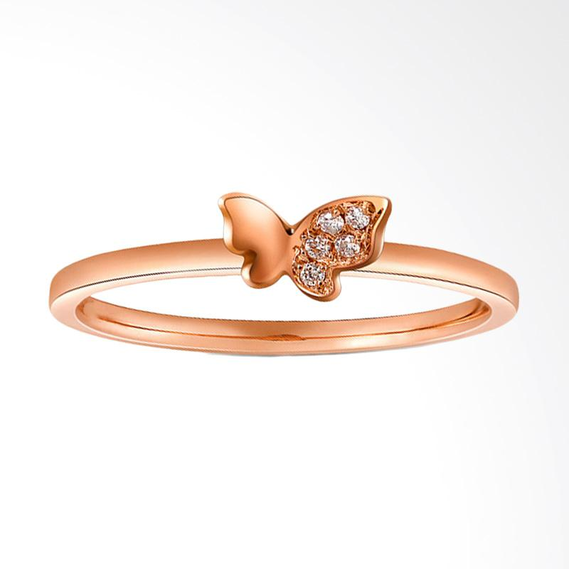 Tiaria Half Butterfly Ring Perhiasan Emas Cincin Wanita [18K]
