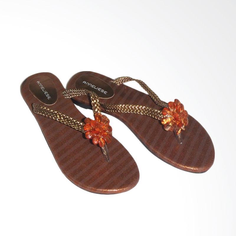 Anneliese Sandal Flat Wanita - Sunny Copper