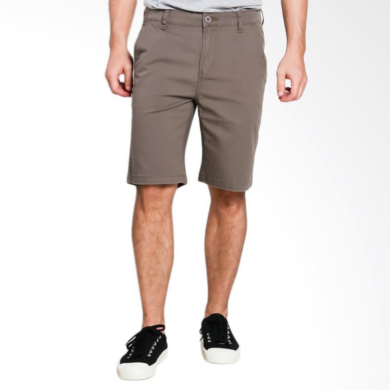 3SECOND Relaxed Pants 0310 Celana Pendek Pria - Brown