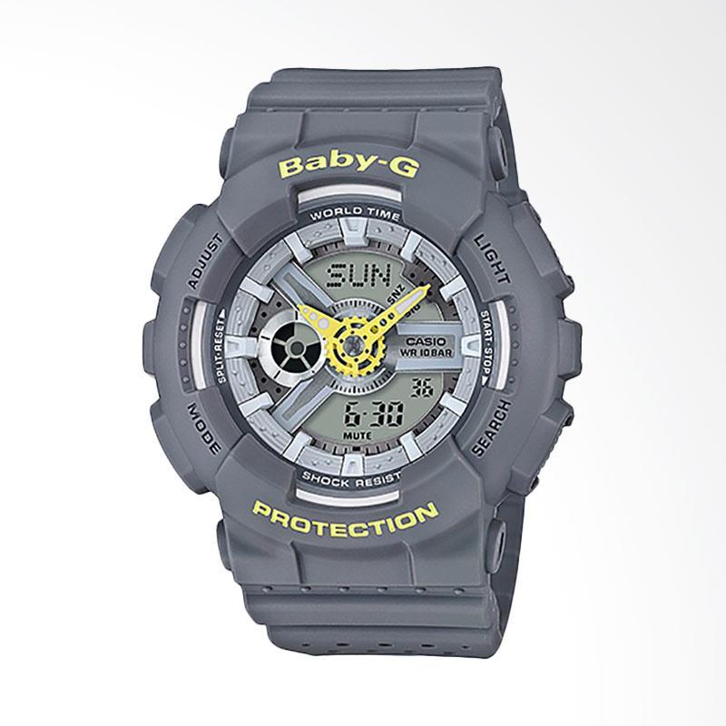 Casio Baby-G BA-110PP-8ADR Resin Band Jam Tangan Wanita - Grey