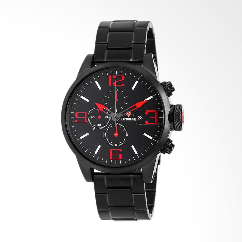Expedition Man Black Dial Black Stainless Steel Jam Tangan Pria - Black EXF-6386-MCBIPBARE