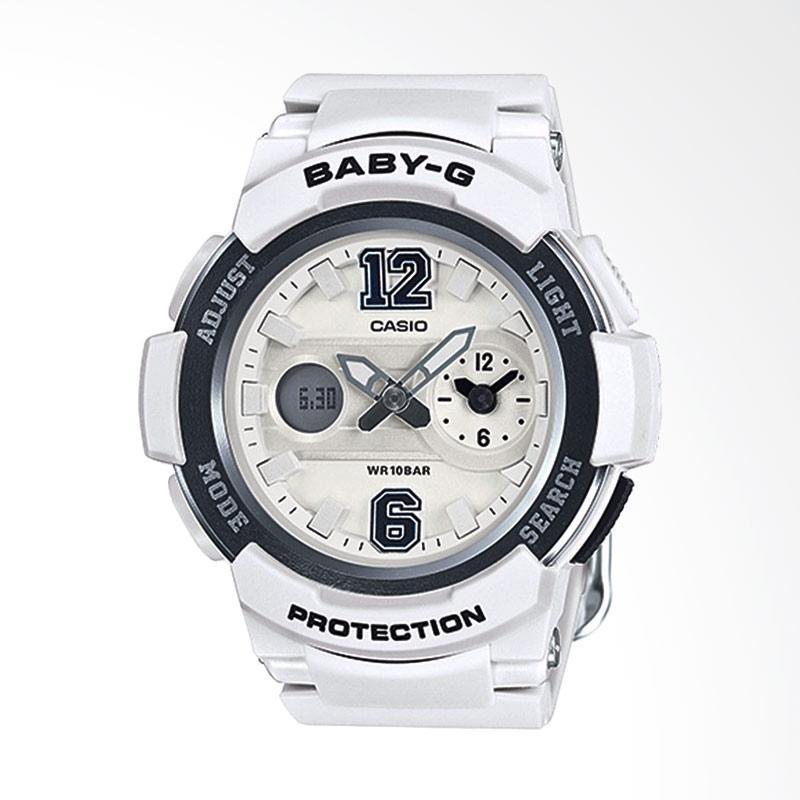 CASIO Baby-G BGA-210-7B1DR Resin Band Jam Tangan Wanita - White