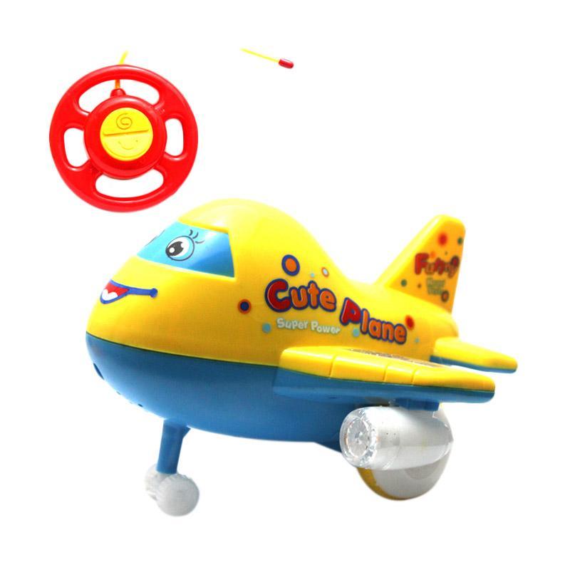 harga RC Aerobus Super Pesawat Mainan Remote Control - Yellow Blibli.com
