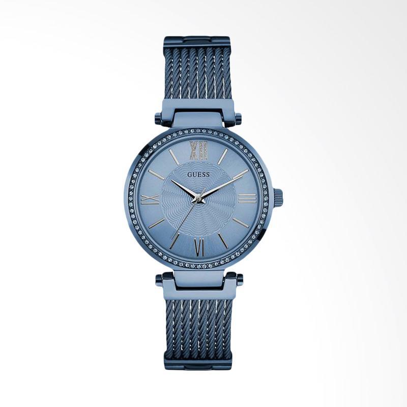 Guess U0638L3 Women Blue Dial Blue Tone Stainless Steel G-Link Jam Tangan Wanita