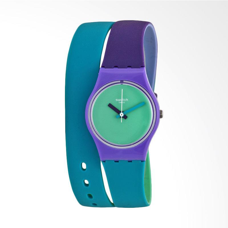 harga Swatch LV117 Fun In Blue Bahan Tali Silikon Jam Tangan Wanita - Hijau Ungu Blibli.com