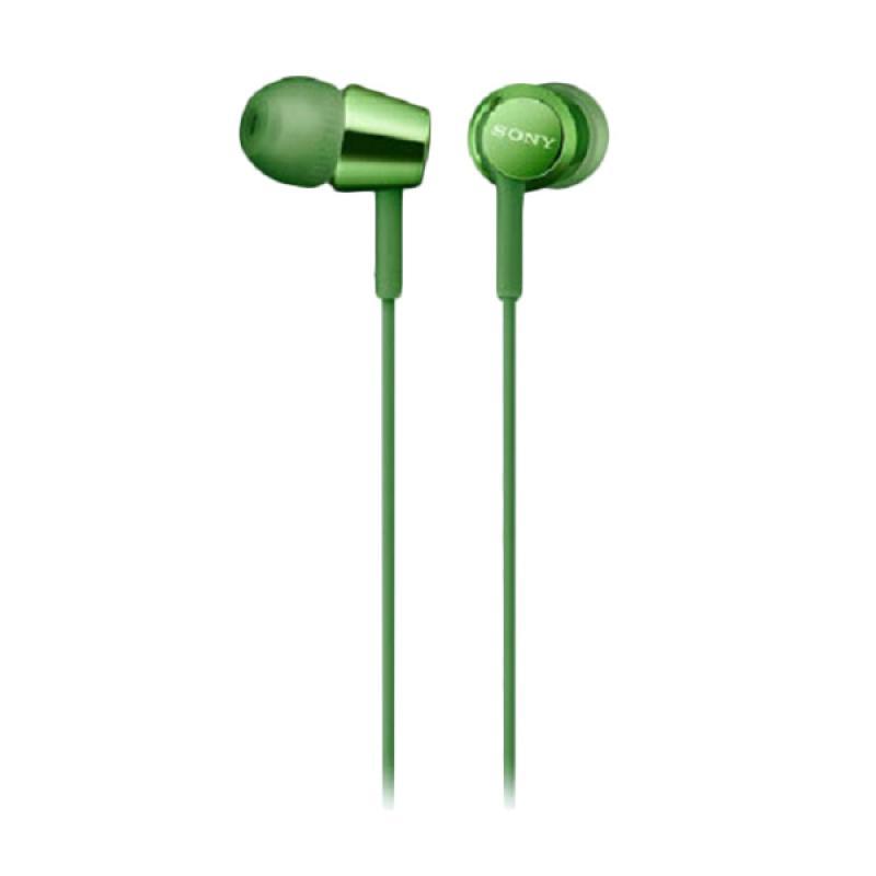 harga Sony MDR-EX155AP In-Ear Monitor Earphone - Green Blibli.com