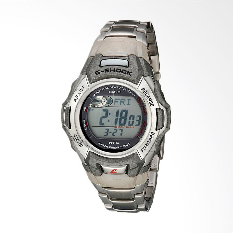 CASIO G-Shock Stainless Steel Multi-Function Digital Watch Jam Tangan Pria -  Silver Metalic MTGM900DA-8