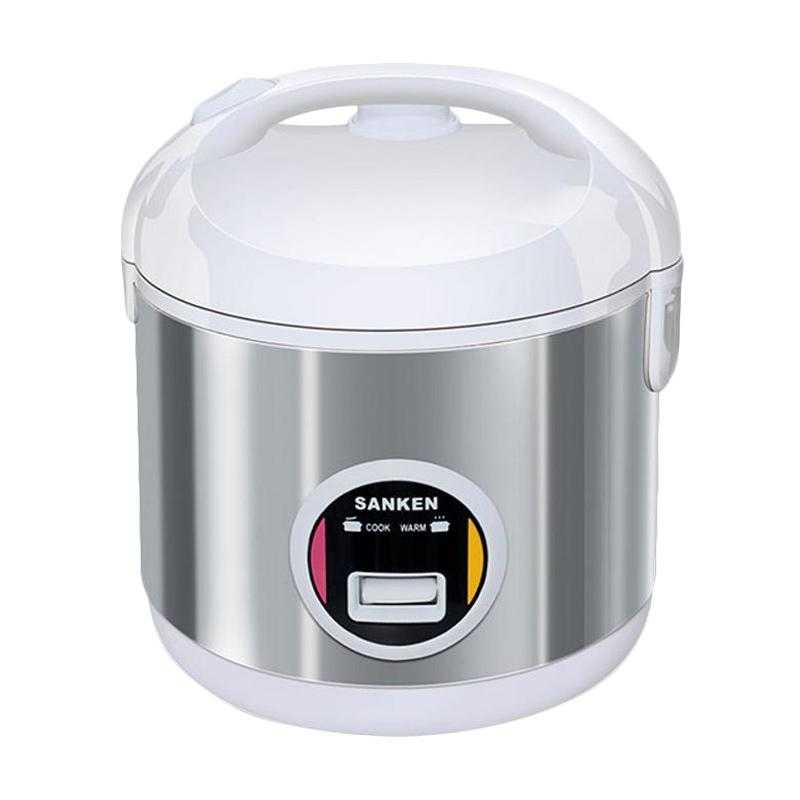 HICEH - Sanken SJ-203WH Rice Cooker Stainless Steel White [1L]