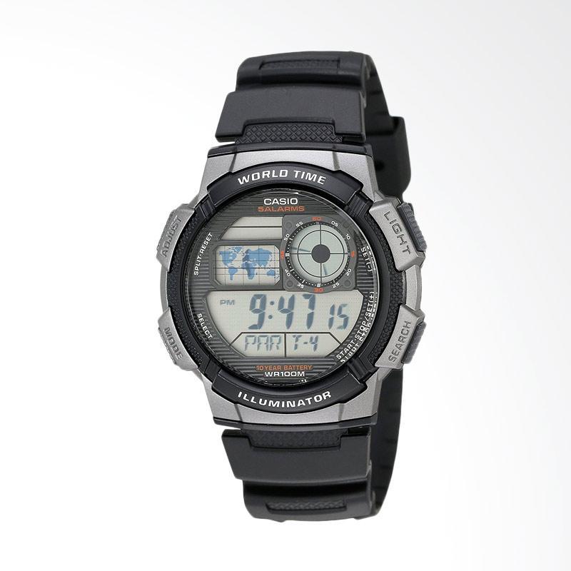 Casio Men's Resin Digital Sport Watch Jam Tangan Pria - Grey Black AE1000W-1BVCF