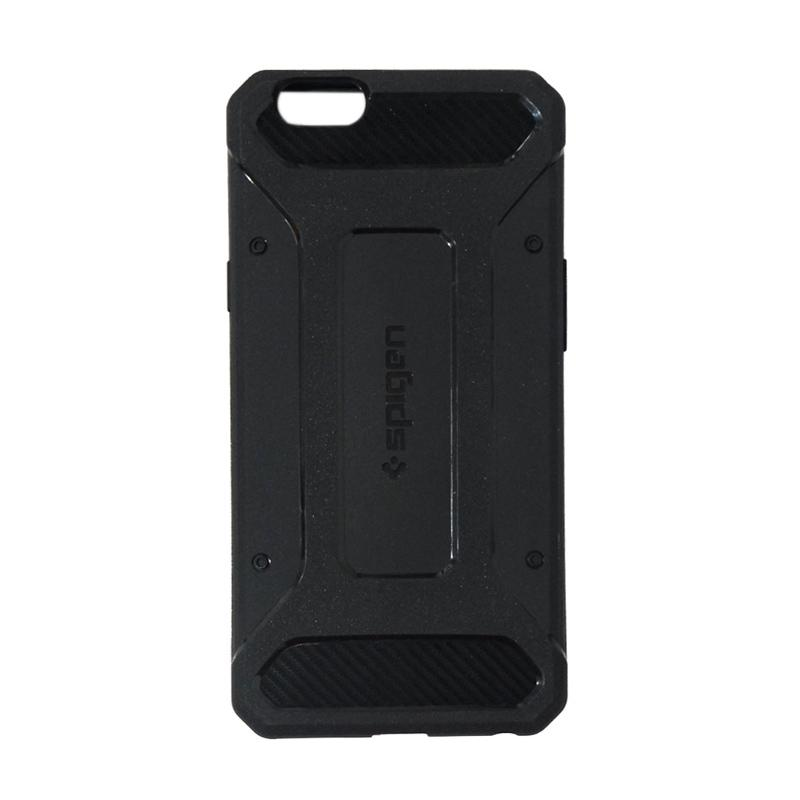 Spigen Rugged Capsule With Carbon Fiber Textures Softcase Casing for Oppo F1S Selfie Expert A59 - Black