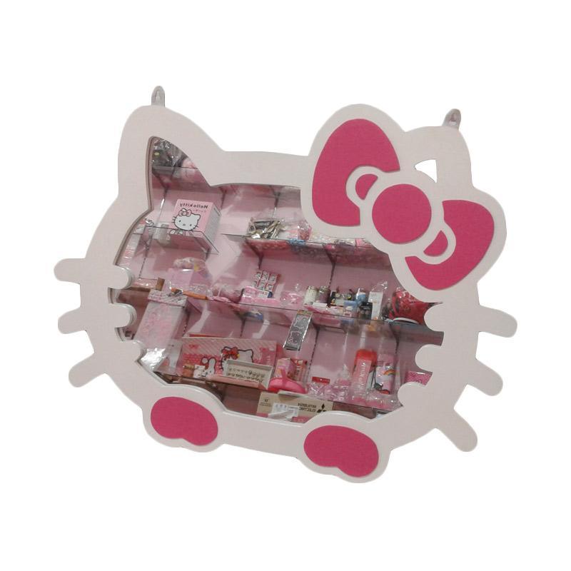 Hello Kitty Head HK Cermin Kaca Jumbo - White Pink