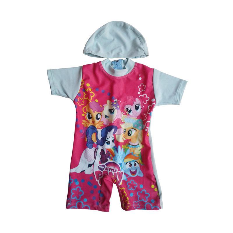 Rainy Collections Karakter Little Pony Baju Renang Bayi - Biru Muda