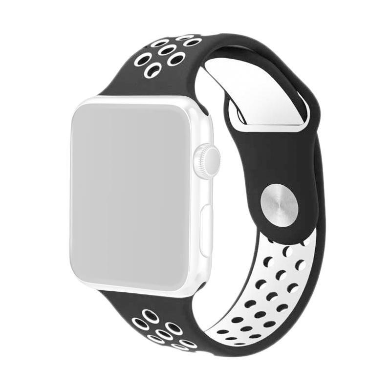 OEM Nike Unisex Rubber Strap for Apple Watch Nike or iWatch 38 mm - Black