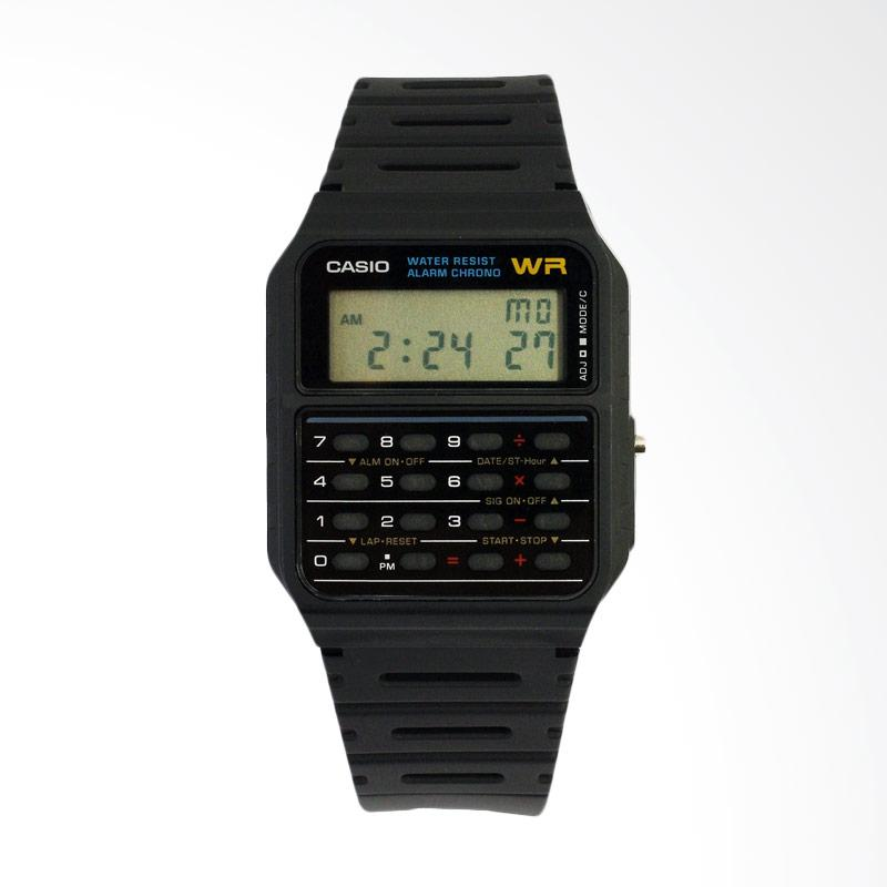 Casio Men's Calculator Jam Tangan Pria - Black CA53W