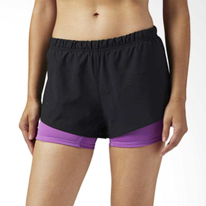 Reebok Ori Celana Pendek Olahraga Wanita - Black Purple BQ9989