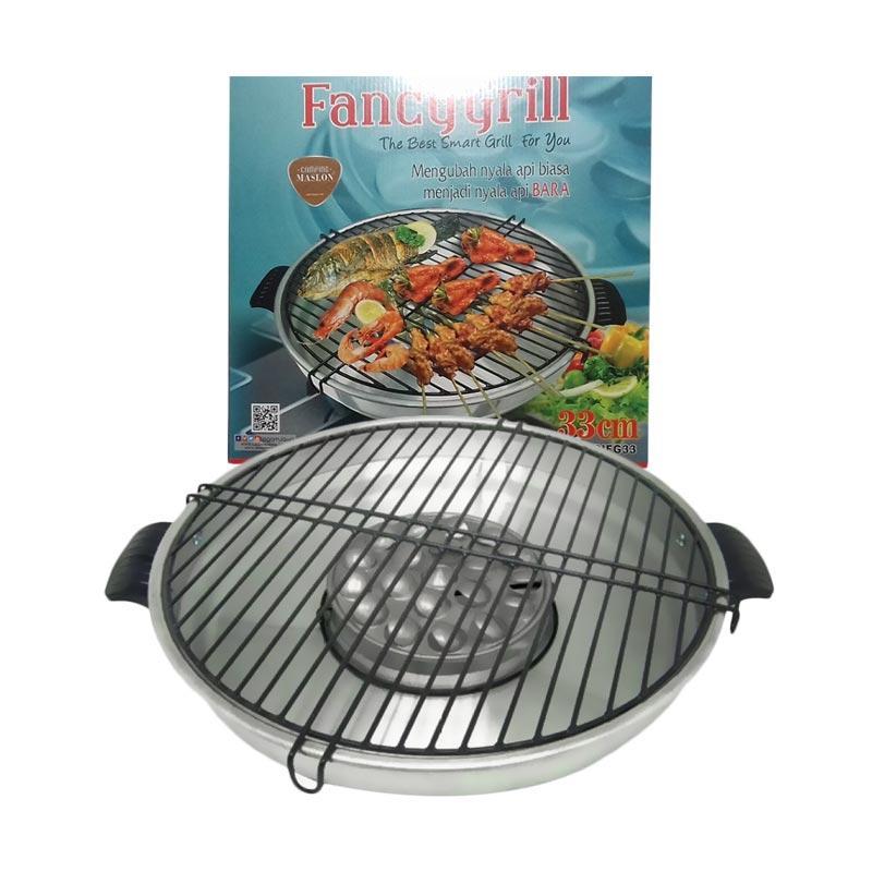 Jual Maspion Fancy Grill Alat Pemanggang - Silver Metallic [33 cm] Online - Harga & Kualitas Terjamin | Blibli.com