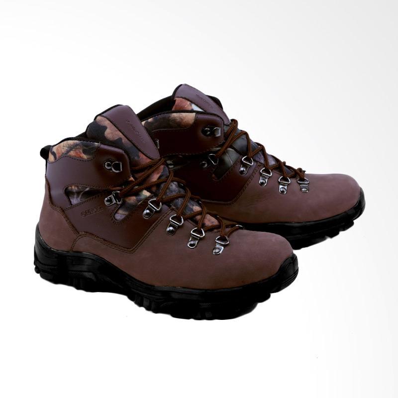 Garsel GAJ 2002 Sepatu Boots Pria - Coklat