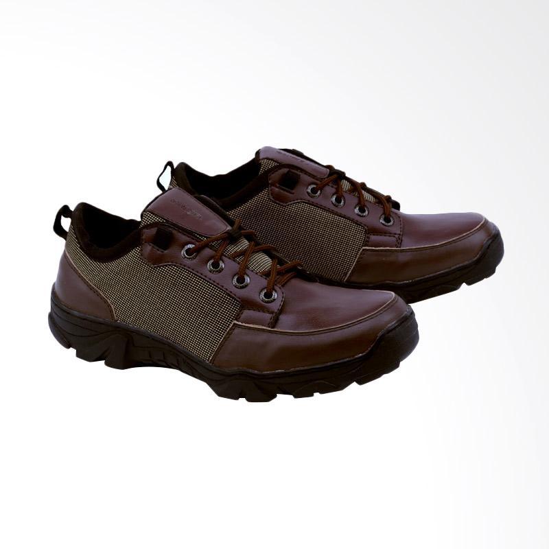 Garsel GAJ 2003 Sepatu Boots Pria - Coklat