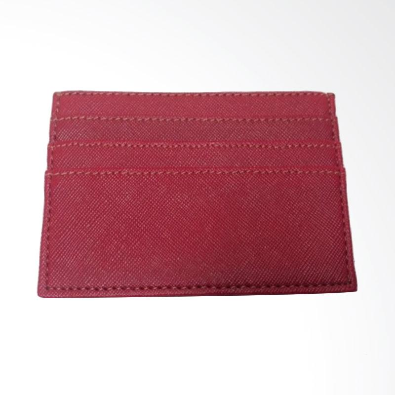 Garuda Shop Card Holder Mini Dompet Kartu Nama ATM KTP - Merah