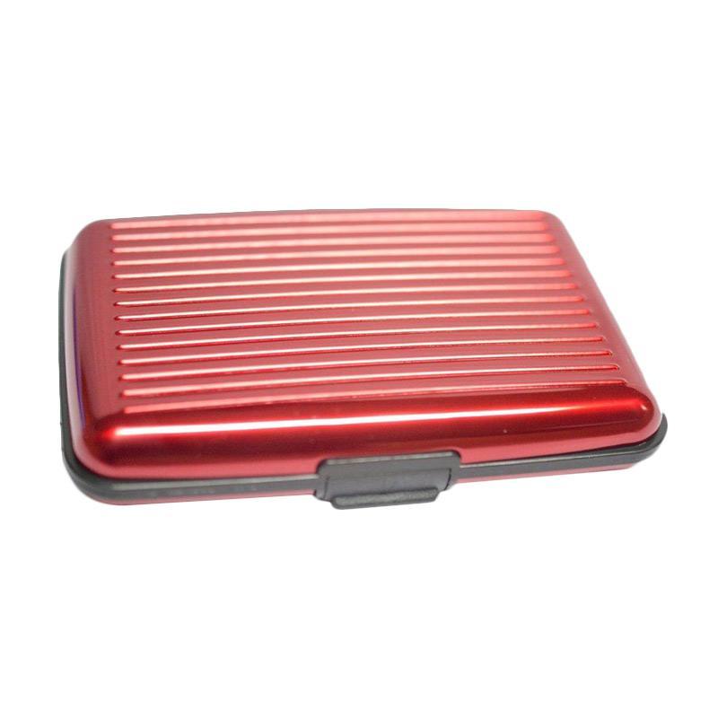 Jual TokoLinggauCom Dompet Kartu Aluminium - Red Online - Harga & Kualitas Terjamin | Blibli.