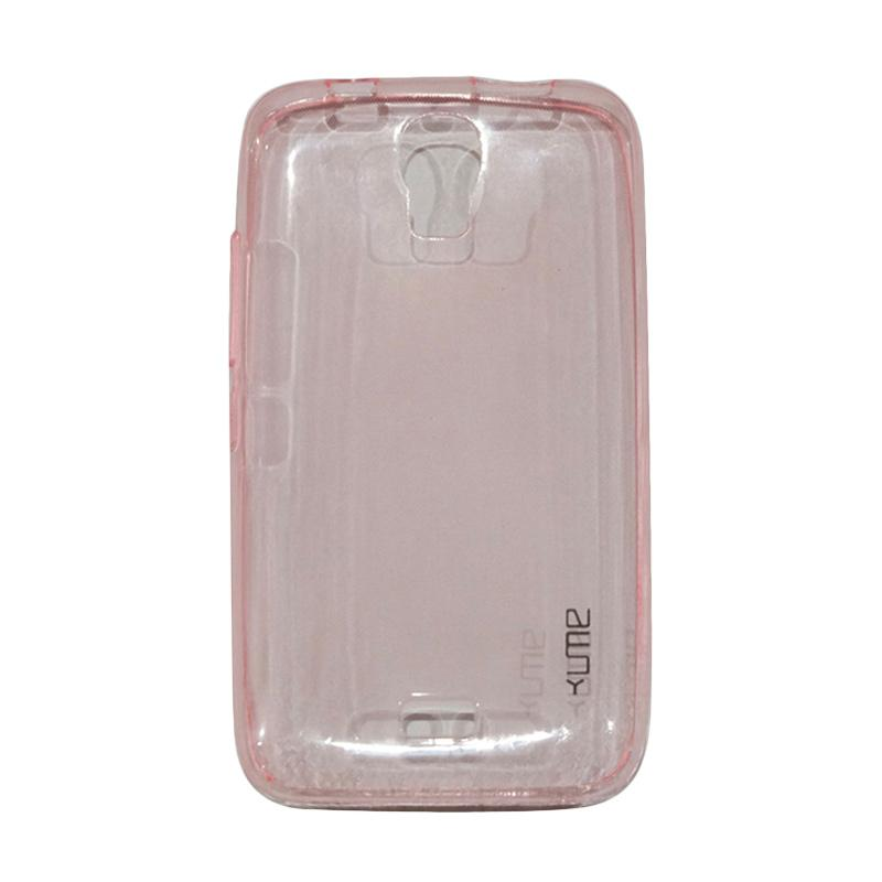 Ume Ultrathin Silicone Jelly Softcase Casing for Huawei Y3C/Y360/Y336/Y3 Batik - Pink