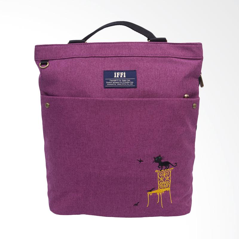 IPC Mansion Selected iFFi x Jimmy Knitted Cat Backpack - Purple