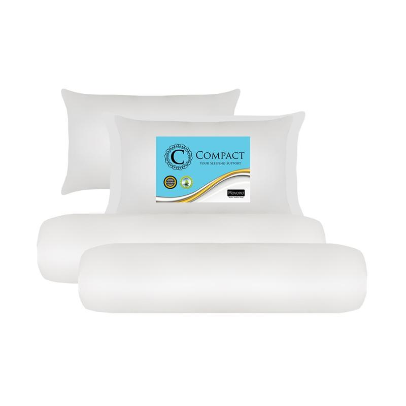 Reveire Compact Bantal dan Guling [2 Pillow + 2 Bolster]
