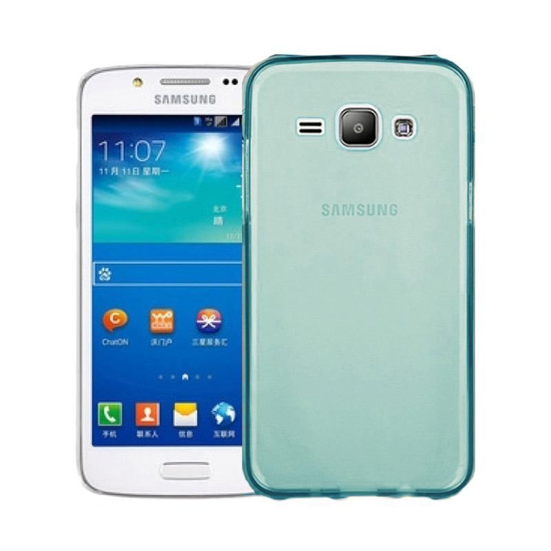 Ume Ultrathin Silicone Jellycase Softcase Casing for Samsung Galaxy J1 J100F - Biru