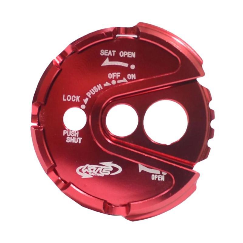 KTC CNC Tutup Kunci Kontak for Yamaha NMax - Merah [TUK3023-Merah]