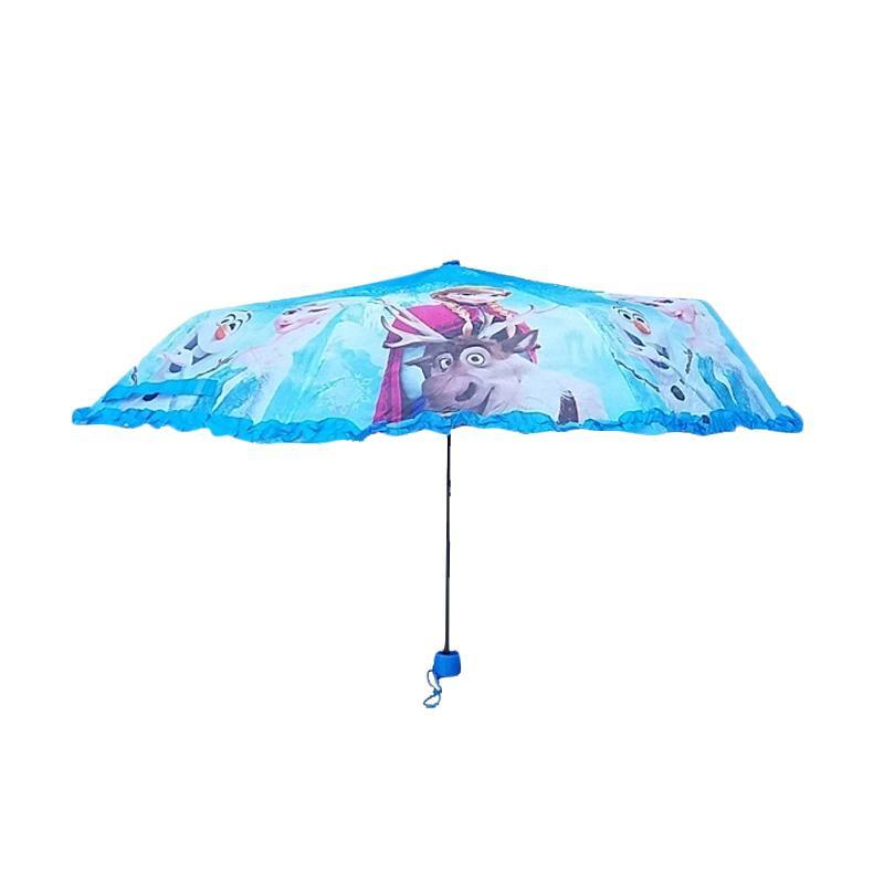 harga Disney Karakter Frozen Single Person Payung Lipat - Blue Blibli.com