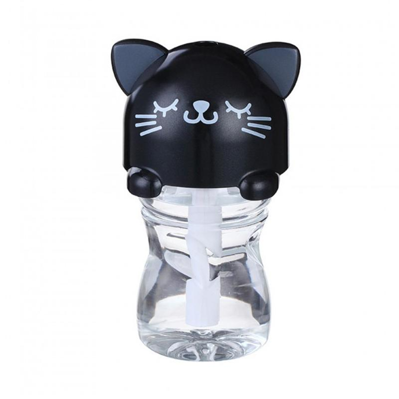harga TOKUNIKU USB Mini Portable LED Cartoon Bottle Caps Humidifier - Hitam [280 mL] Blibli.com