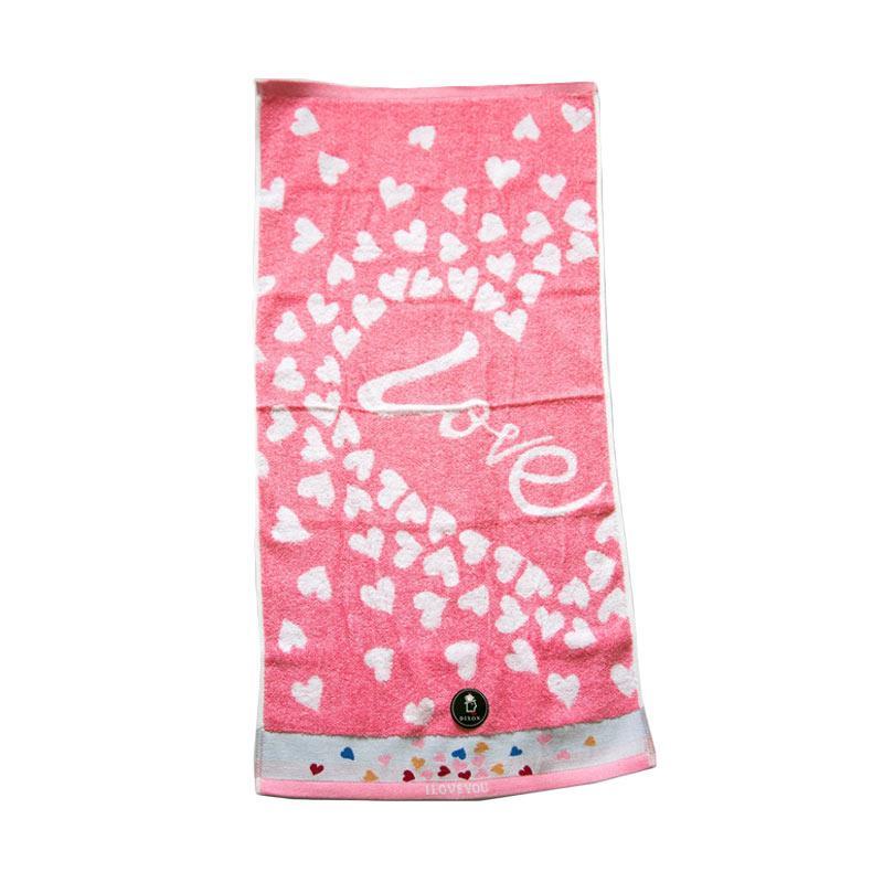 Dixon Lovely Heart 7081 Handuk Sport - Pink [35 x 80 cm]