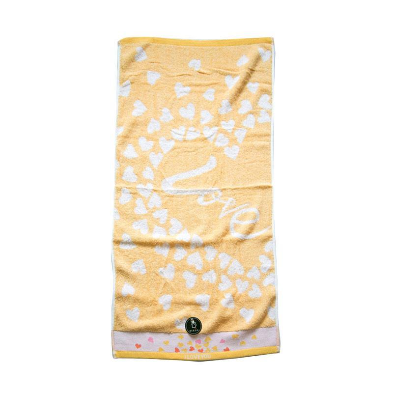 Dixon Lovely Heart 7081 Handuk Sport - Yellow [35 x 80 cm]