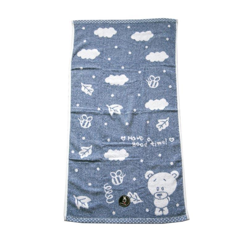 Dixon Good Time Bear 7098 Handuk Mandi - Blue [60 x 120 cm]