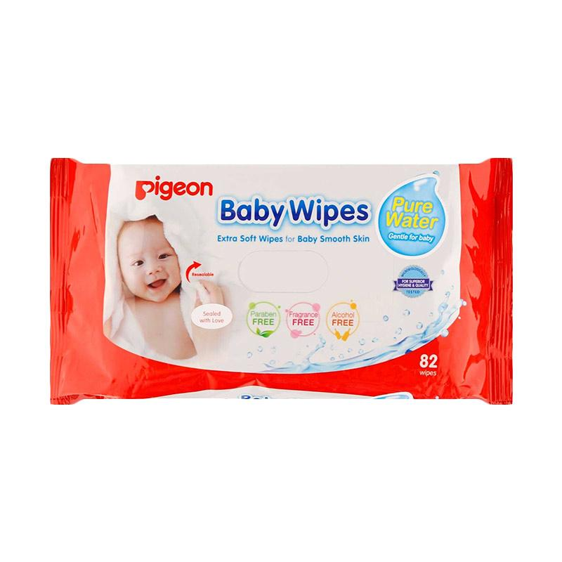 Pigeon Baby Wipes Pure Water Tissue Basah [82's]
